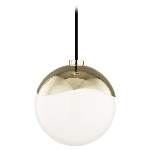 Hudson Valley Lighting Mid-Century Modern Mini-Pendant Light Brass Mitzi Ella by Hudson Valley H125701S-PB