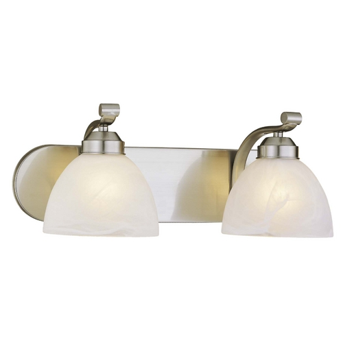 Minka Lavery 2-Lt Bathroom Light in Brushed Nickel - Etched Marble Glass 5422-84