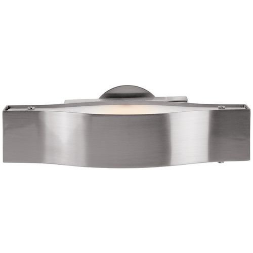 Access Lighting Modern Bathroom Light with White Glass in Brushed Steel Finish 62311-BS/FST