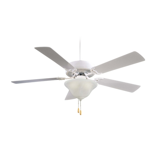 Minka Aire Ceiling Fan with Light with White Glass F648-SWH