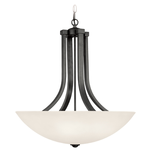 Dolan Designs Lighting Pendant Light with White Glass in Warm Bronze Finish 207-46