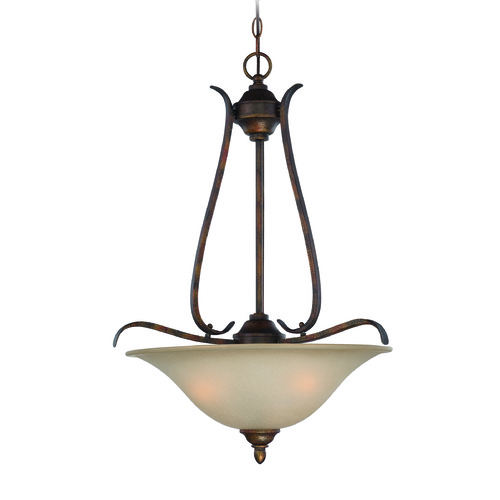 Craftmade Lighting Craftmade Mckinney Burleson Bronze Pendant Light with Bowl / Dome Shade 29043-BBZ