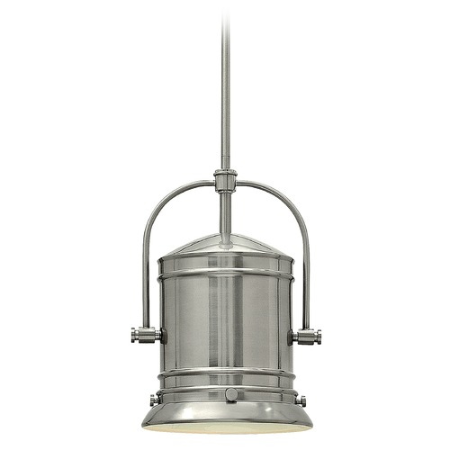 Hinkley Hinkley Pullman Brushed Nickel Pendant Light with Bell Shade 3257BN