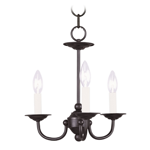 Livex Lighting Livex Lighting Home Basics Black Mini-Chandelier 4153-04