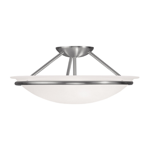 Livex Lighting Livex Lighting Newburgh Brushed Nickel Semi-Flushmount Light 4824-91