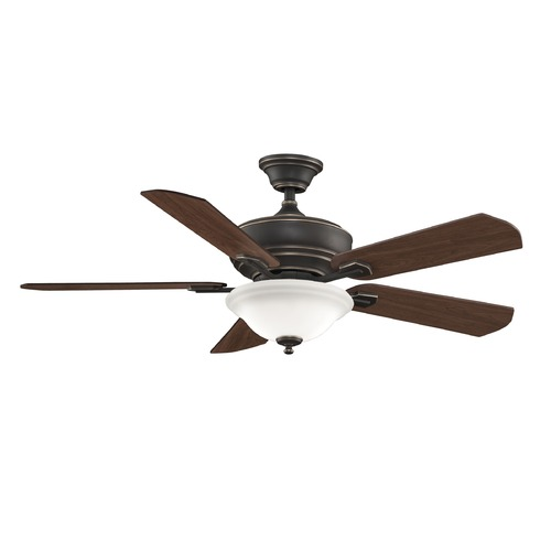 Fanimation Fans Fanimation Fans Camhaven Bronze Accent Ceiling Fan with Light FP8095BA