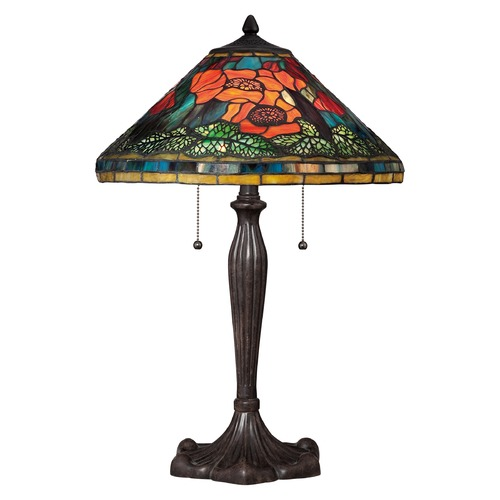 Quoizel Lighting Quoizel Tiffany Imperial Bronze Table Lamp with Conical Shade TF1850TIB