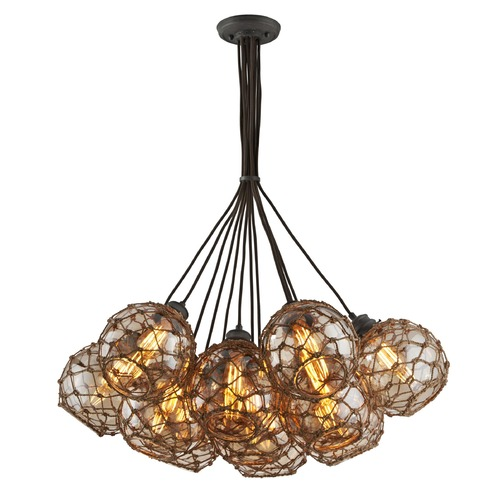 Troy Lighting Troy Lighting Outter Banks Shipyard Bronze Pendant Light with Globe Shade F4756