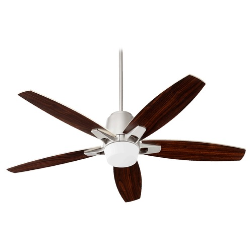Quorum Lighting Quorum Lighting Metro Satin Nickel Ceiling Fan with Light 39525-65
