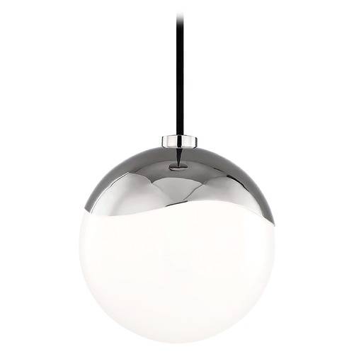 Hudson Valley Lighting Mid-Century Modern Mini-Pendant Light Polished Nickel Mitzi Ella by Hudson Valley H125701S-PN