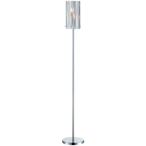 Lite Source Lighting Lite Source Lighting Liam Chrome Floor Lamp with Conical Shade LS-81697C
