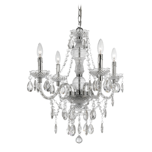 AF Lighting Naples Mini-Chandelier with Swag Kit 8350-4H