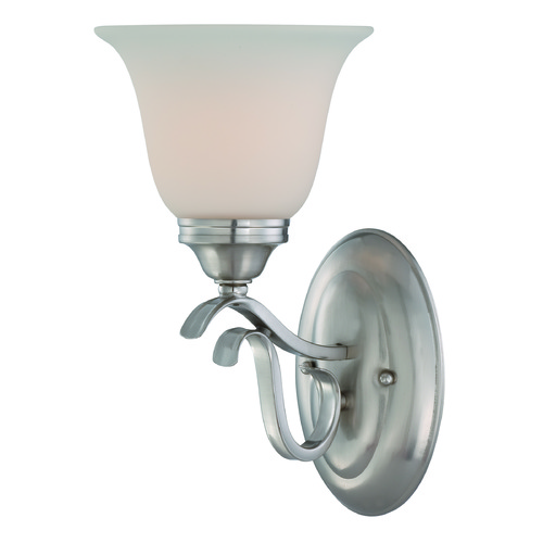 Craftmade Lighting Craftmade Mckinney Brushed Polished Nickel Sconce 29001-BNK