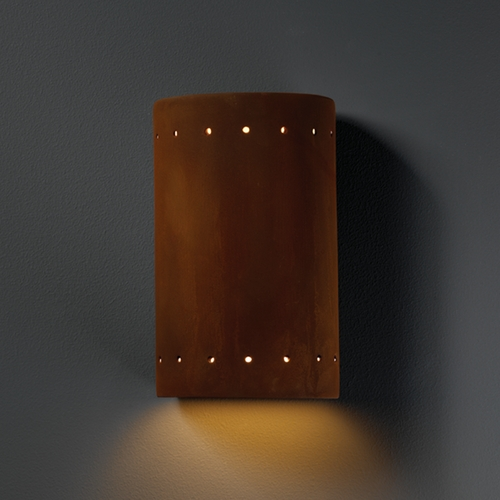 Justice Design Group Outdoor Wall Light in Real Rust Finish CER-0990W-RRST