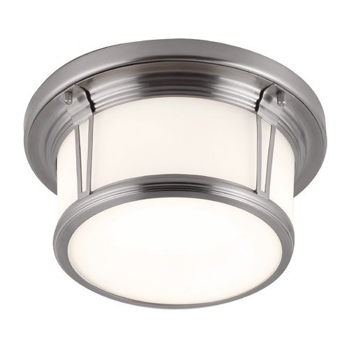 Feiss Lighting Feiss Lighting Woodward Brushed Steel Flushmount Light FM387BS