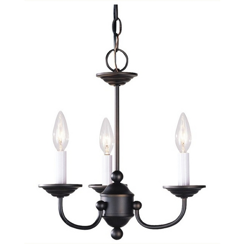 Livex Lighting Livex Lighting Home Basics Bronze Mini-Chandelier 4153-07