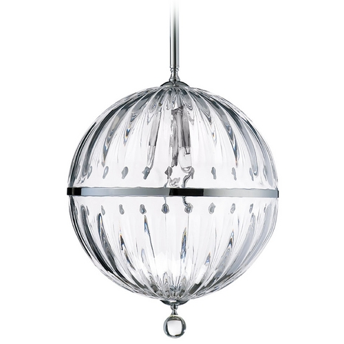 Cyan Design Cyan Design Janus Chrome & Clear Pendant Light with Globe Shade 04207