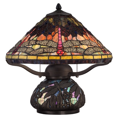 Quoizel Lighting Quoizel Tiffany Imperial Bronze Table Lamp with Conical Shade TF1851TIB