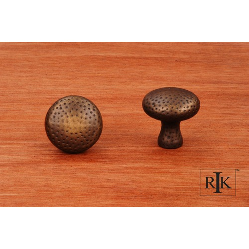 RK International Solid Round Knob with Divot Indents CK9315AE
