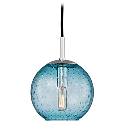 Hudson Valley Lighting Mid-Century Modern Mini-Pendant Light Chrome Rousseau by Hudson Valley Lighting 2007-PC-BL