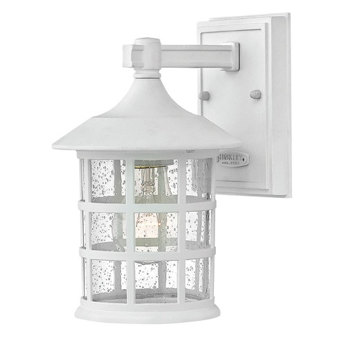 Hinkley Seeded Glass LED Outdoor Wall Light Classic White Hinkley 1800CW-LED