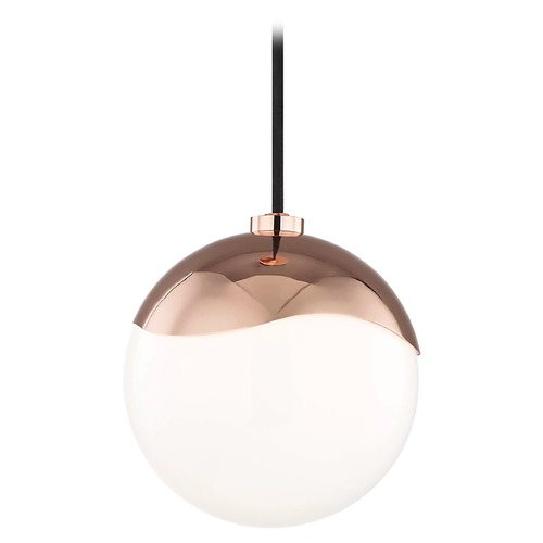 Mitzi by Hudson Valley Mid-Century Modern Mini-Pendant Light Copper Mitzi Ella by Hudson Valley H125701S-POC