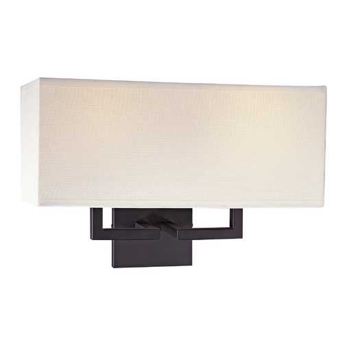 George Kovacs Lighting Sconce with Rectangle Shade in Bronze Finish P472-617