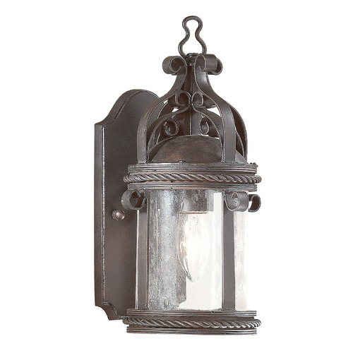 Troy Lighting Outdoor Wall Light with Clear Glass in Old Bronze Finish BCD9120OBZ