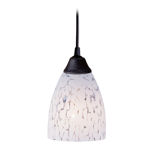 Elk Lighting Modern Mini-Pendant Light with Art Glass 406-1SW