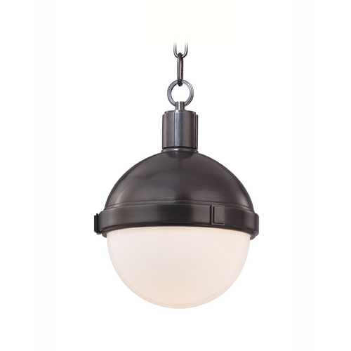 Hudson Valley Lighting Mini-Pendant Light with White Glass 609-OB