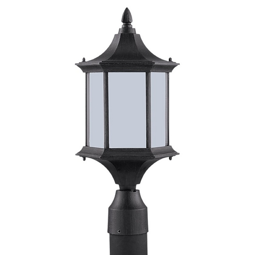 Sea Gull Lighting Post Light with White Glass in Textured Rust Patina Finish 89236BL-08