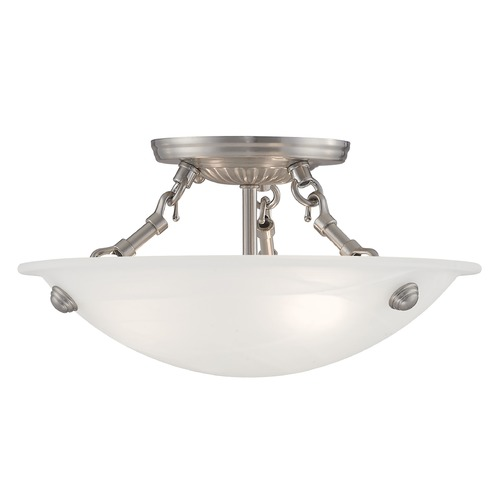 Livex Lighting Livex Lighting Oasis Brushed Nickel Semi-Flushmount Light 4272-91