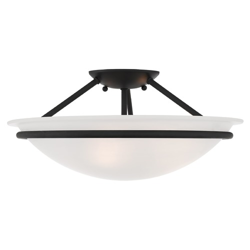 Livex Lighting Livex Lighting Newburgh Black Semi-Flushmount Light 4824-04