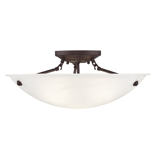 Livex Lighting Livex Lighting Oasis Bronze Semi-Flushmount Light 4274-07