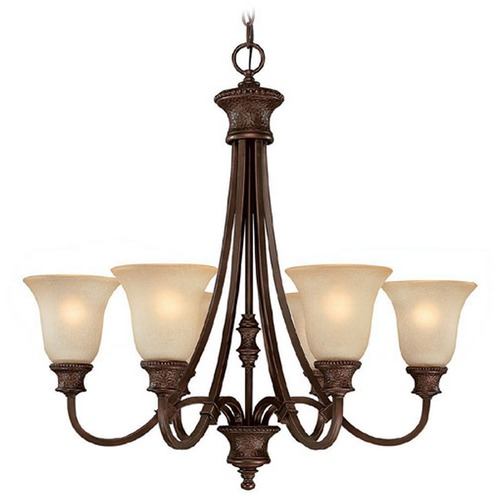 Capital Lighting Capital Lighting Hill House Burnished Bronze Chandelier 3566BB-252