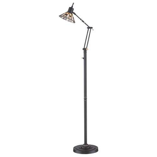 Quoizel Lighting Quoizel Tiffany Medici Bronze LED Swing Arm Lamp with Conical Shade TF1860FZ
