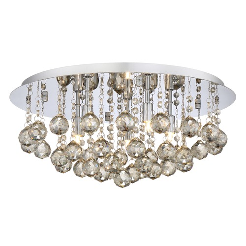 Quoizel Lighting Quoizel Lighting Bordeaux with Amber Crystal Polished Chrome Flushmount Light BRXA1619C