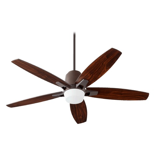 Quorum Lighting Quorum Lighting Metro Oiled Bronze Ceiling Fan with Light 39525-86