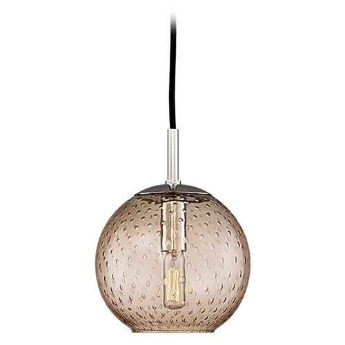 Hudson Valley Lighting Mid-Century Modern Mini-Pendant Light Chrome Rousseau by Hudson Valley Lighting 2007-PC-BZ