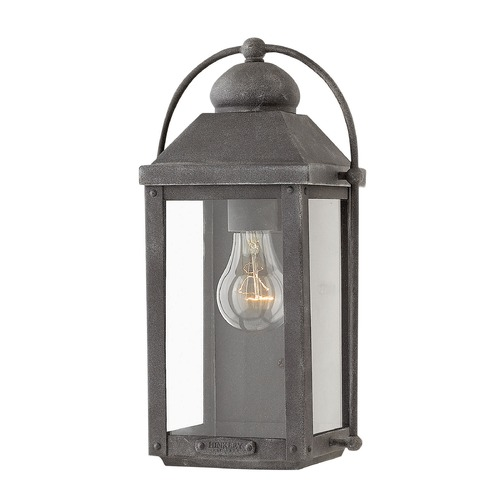 Hinkley Lighting Hinkley Lighting Anchorage Aged Zinc Outdoor Wall Light 1850DZ