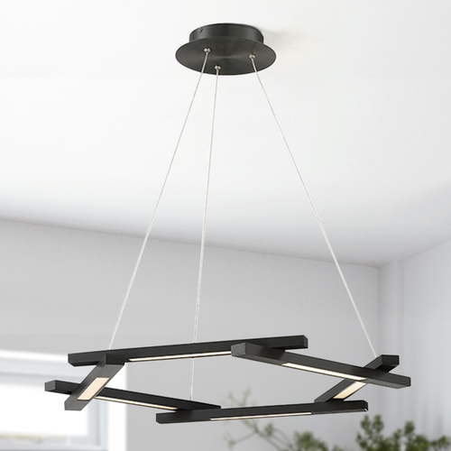 Modern Forms by WAC Lighting Metric LED Pendant PD-43728-BK