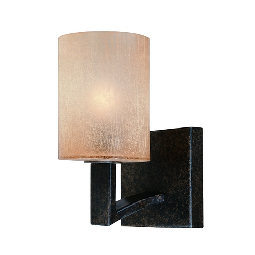 Troy Lighting Sconce Wall Light with Beige / Cream Glass in Antique Bronze Finish B1731ABZ