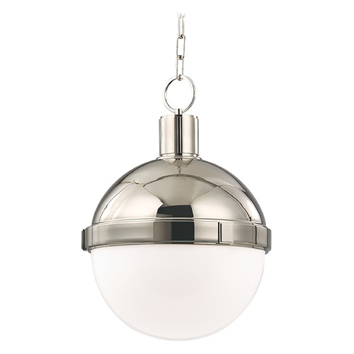 Hudson Valley Lighting Mini-Pendant Light with White Glass 609-PN