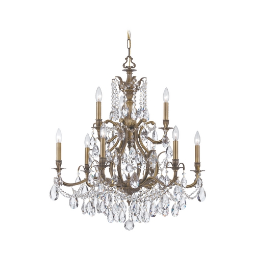 Crystorama Lighting Crystal Chandelier in Antique Brass Finish 5579-AB-CL-MWP