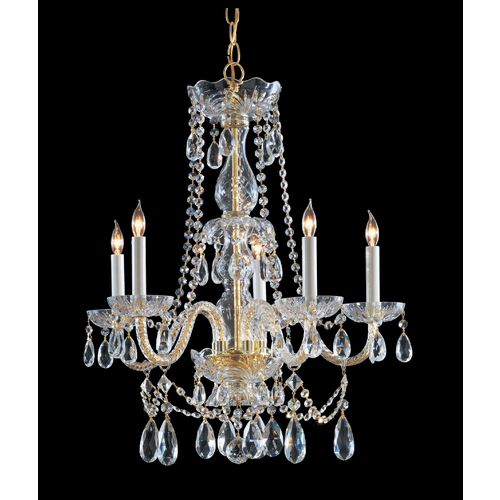 Crystorama Lighting Crystal Chandelier in Polished Brass Finish 1125-PB-CL-MWP