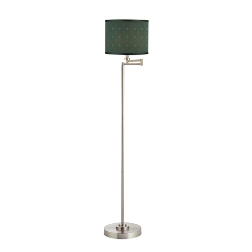 Design Classics Lighting Swing Arm Floor Lamp with Drum Lamp Shade 1901-09 SH9479