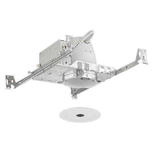 Recesso Lighting by Dolan Designs Recesso Lighting 4-Inch Recessed Light Kit with White Pinhole Trim TC4/T406W-WH