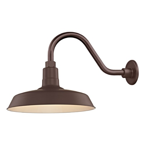 Recesso Lighting by Dolan Designs Bronze Gooseneck Barn Light with 14-Inch Shade BL-ARMC-BZ/SH14-BZ