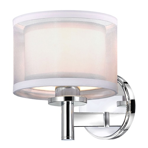 Dolan Designs Lighting Double Organza Wall Sconce 1 Lt Chrome 1277-26