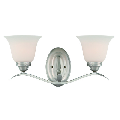 Jeremiah Lighting Jeremiah Mckinney Brushed Polished Nickel Bathroom Light 29002-BNK
